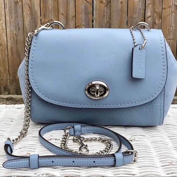 Coach Handbags - Authentic Coach Calf/Suede Embossed leather Crosby